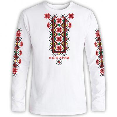 Тениска с фолклорни мотиви